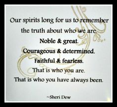Sheri Dew quote...