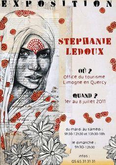 such talent Stephanie Ledoux Art Visage, Ledoux, Moleskine, Face Art, Portraits, Altered Art, Unique Art, Painting & Drawing, Art Boards