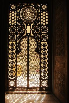 Islamic Artistic Window Pattern at Masjid ar-Rifa`i in Cairo - Cairo, Egypt…