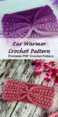 Make a Cozy Ear Warmer Crochet ear warmer pattern - crochet headband pattern - A Crafty Life Crochet Ear Warmer Pattern, Crochet Patterns, Crochet Ear Warmers, Free Crochet Headband Patterns, Knit Headband Pattern, Easy Crochet Headbands, Crochet Scarves, Crochet Winter Hats, Crochet Beanie