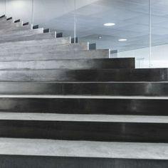Image 6 of 32 from gallery of Danish National Maritime Museum / BIG. Photograph by Rasmus Hjortshõj Concrete Architecture, Space Architecture, Contemporary Architecture, Architecture Details, Stairs And Doors, Entryway Stairs, Stair Steps, Stair Railing, Home Building Design