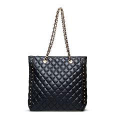"#ShoeDazzle ""Didsbury"" Black Quilted Tote"
