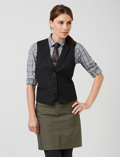 The Women's Hadley Check Shirt is a statement uniform piece that will ensure your staff is a class above the standard Waiter Uniform, Uniform Shop, Hotel Uniform, Staff Uniforms, Work Uniforms, Waitress Outfit, Women Wearing Ties, Restaurant Uniforms, Uniform Design