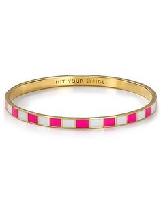 The definition of wrist candy: Kate Spade's Hit Your Stride bangle