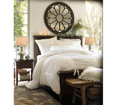 Pottery Barn ruched duvet cover. I totally plan on buying this with my discount! <3