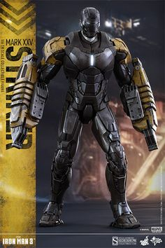 The Hot Toys Iron Man Mark XXV - Striker Sixth Scale Figure is now available at Sideshow.com for fans of the movie Iron Man 3 and Marvel comics.