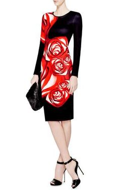 Spanish Rose Printed Neoprene Dress by Clover Canyon Now Available on Moda Operanhdi