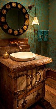 Whitefish Yacht Club Residence Rustic Bathroom