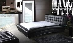 Eastern King Bed Belaire Collection Belaire-EK (Eastern King Bed) Finish: Black Dimension: Queen Bed:79 x 100 x 40 California King Bed:90 x 102 x 40 Eastern King Bed:95 x 100 x 40