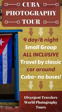 Cuba Photo Tour. Travel to Cuba and improve your architecture, portrait, and landscape photography! Small Group Size, Travel By 1950's Cars! Click to see more about the Divergent Travelers Adventure Travel Blog Cuba Photography Tour At http://www.divergenttravelers.com/travel-photography-tours/cuba-photo-tour/