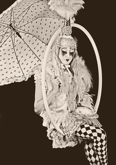 Circus performer in aerial hoop Circus Costume, Circus Clown, Circus Party, Sun Sisters, Venetian Costumes, Circus Aesthetic, Laugh Now Cry Later, Circus Outfits, Goth Kids