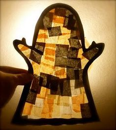 DIY Hallowen: DIY Halloween Fun: Faux Stain Glass Ghosts