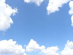 Lovely white clouds and blue skies over New Jersey