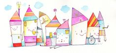 colored characters by serap deliorman, via Behance