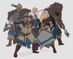 ArtStation - Viking Characters, Conor Burke