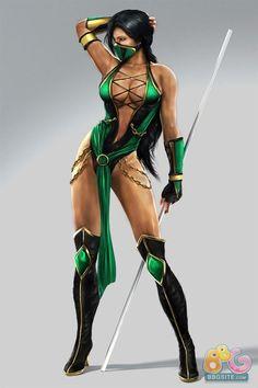 Jade - Mortal Kombat 9 by ~mkjadefan Mortal Kombat 9, Mortal Kombat Cosplay, Mortal Kombat Tattoo, Chica Fantasy, Fantasy Girl, Fantasy Warrior, Final Fantasy, Video Game Characters, Female Characters