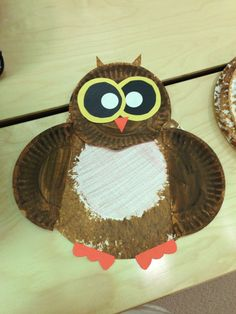 Owl paper plate craft!