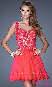 Buy Short La Femme Dress with Sweetheart Neckline at PromGirl