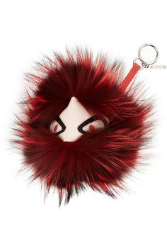 Fendi - Textured-leather and fox monster bag charm 992be81681b46
