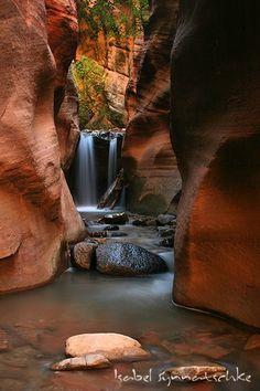 Waterfall at Kanarra Creek near St. George, Utah