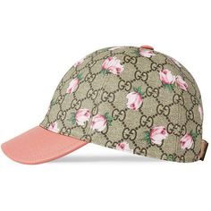 Gucci Children S Gg Flowers Cap ( 180) ❤ liked on Polyvore featuring  accessories 33324a44ffc