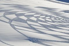 Snow Becomes A Canvas For Intricate, Temporary Art