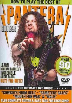 How to Play the Best of Pantera includes detailed instruction from metal expert Andy Aledort on four of Dimebag Darrell's best known songs. Titles: Cowboys from Hell * Cemetery Gates * Mouth for War *