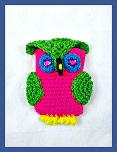 Neon Iphone Case Neon Pink Green Blue Yellow Owl by YarnedTogether, $12.00