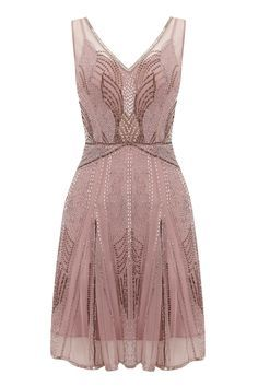 I like the beaded design on the dress. I'm sure it's too expensive for a bridesmaid dress. I'm not crazy about the color, but the dress is adorable overall. CGD