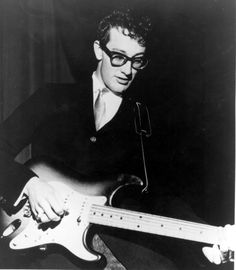 """Rock 'n' roll, then and now. Born in Lubbock, Texas, on Sept. Buddy Holly went on to become """"the single most influential creative force in early rock and roll"""" (according to critic Bruce Eder) before his untimely death in a plane accident on Feb. Bob Dylan, Music Icon, My Music, Music Life, Soul Music, John Lennon, Rock And Roll, Blue Soul, Ritchie Valens"""