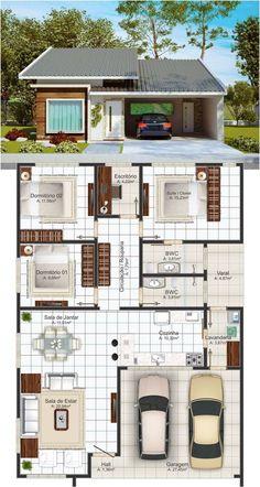 Modern home design – Home Decor Interior Designs Sims House Plans, House Layout Plans, Dream House Plans, Small House Plans, House Layouts, Small House Layout, Family House Plans, Home Building Design, Home Design Plans