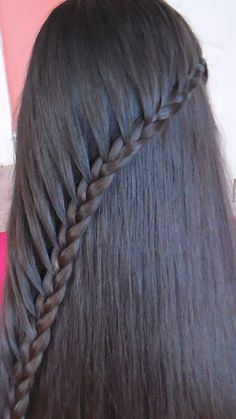Trenza De Lado Con Cabello Suelto/ Sideways Braid Girly Hairstyles, Headband Hairstyles, Pretty Hairstyles, Braided Hairstyles, Little Girl Hairdos, Cabello Hair, Beautiful Braids, Bridesmaid Hair, Hair Pieces