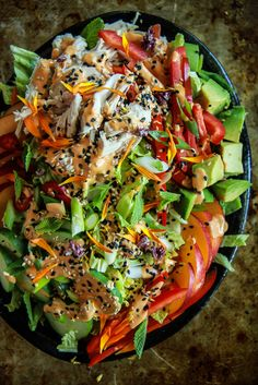 Nectarine Ginger Sesame Chicken Salad