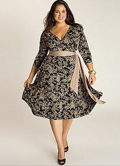 Full figured Daphne wrap dress available at Lane Bryant let you flaunt your curvaceous figure in style.