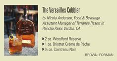 The Versailles Cobbler from Nicola Anderson and the Tasting Panel with Briottet Creme de Peche http://digital.copcomm.com/i/164544-september-2013/132