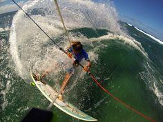 Kitesurfing at Maui's North shore. www.mauiunique.com