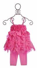 Kate Mack Girls Pink Top Set Summer Petals Ruffles