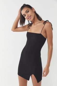 c51bbbe5d49 Motel Verso Tie-Shoulder Mini Dress. Urban Outfitters ...