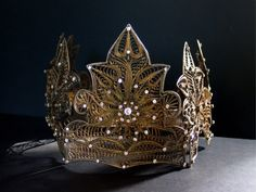 Vintage INDONESIAN BRIDAL CROWN/Traditional by mistyalbion on Etsy