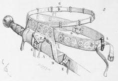 Design for sword frog and belt
