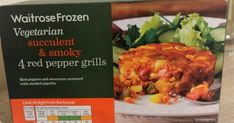 Waitrose frozen red pepper grills review. Just 163 calories each