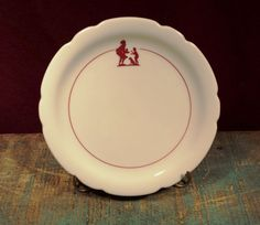 Your place to buy and sell all things handmade Howard Johnson's, Cool Tables, Pie Plate, Wonderful Things, Pie Dish, Hostess Gifts, Vintage Ceramic, Dinnerware, Red And White
