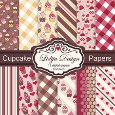 Lovely 12 papers design of cupcakes.   So cute