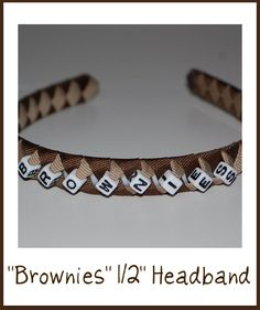 Headband for Brownies, Girl Scouts, Made to match uniform
