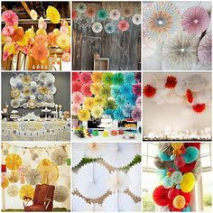 Pretty Parties are our eye candy- we could look for hours at favors ideas, pretty packaging, paper details, dessert tables and lovely party . Diy Photo Backdrop, Photo Backdrops, Backdrop Ideas, Backdrop Decor, Booth Ideas, Tissue Paper Ball, Paper Balls, Fun Crafts, Paper Crafts