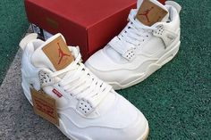 best website 26604 22840 Take a First Look at the Levi s x Air Jordan 4 Retro