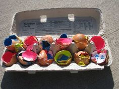 Paint Filled Eggs