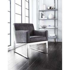 Sunpan 'Club' Sheldon Leather Armchair