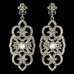 Affordable Elegance Bridal - Art Deco Rhinestone Drop Wedding Earrings, $49.99 (http://www.affordableelegancebridal.com/art-deco-rhinestone-drop-wedding-earrings/)