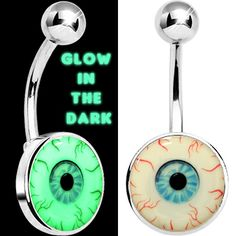 Glow in the Dark Blood Shot Eye Belly Ring | Body Candy Body Jewelry